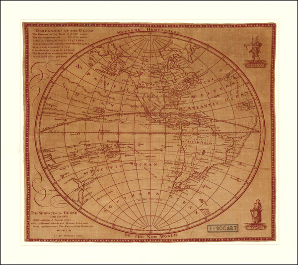 32-Western Hemisphere and America Map By