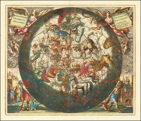 85-Celestial Maps Map By Andreas Cellarius
