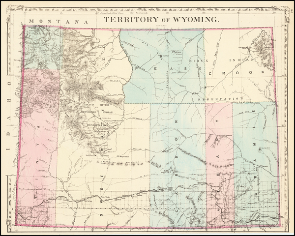 27-Wyoming Map By Samuel Augustus Mitchell Jr.