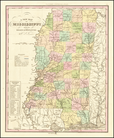 46-Mississippi Map By Henry Schenk Tanner