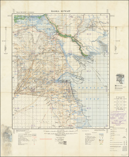 45-Arabian Peninsula Map By Geographical Section, War Office (UK)