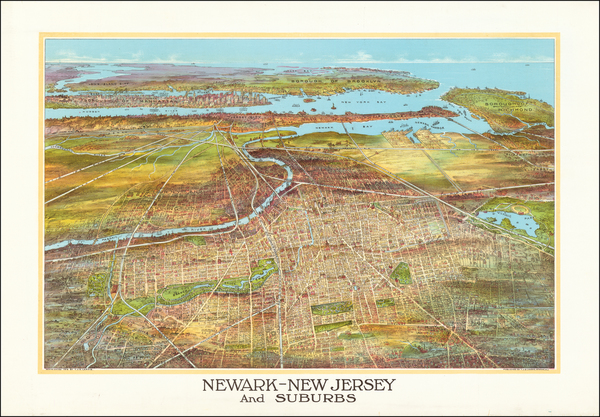 98-New York City and New Jersey Map By T.J. S. Landis