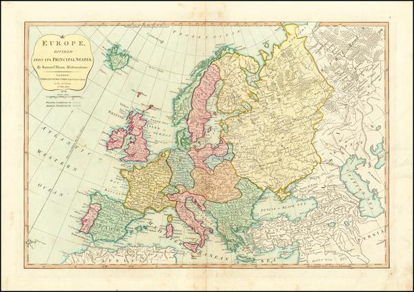 74-Europe Map By Robert Sayer / John Bennett