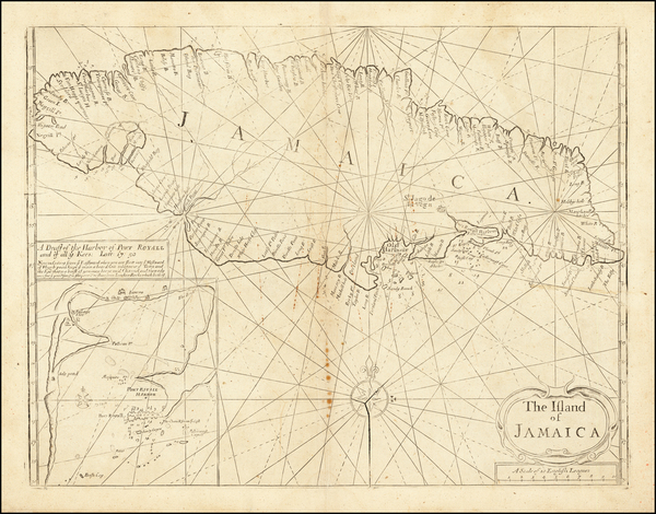 13-Jamaica Map By Mount & Page