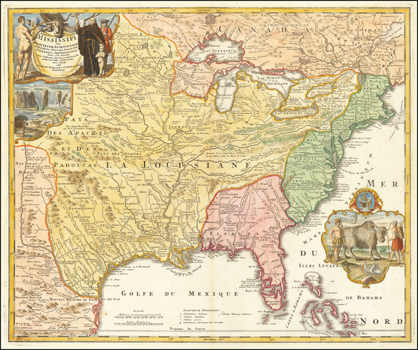 39-United States, South, Southeast, Texas, Midwest, Plains and Southwest Map By Johann Baptist Hom