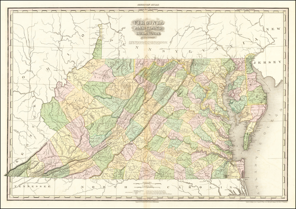 51-Maryland, Delaware and Virginia Map By Henry Schenk Tanner