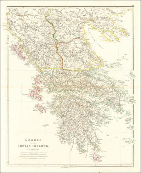 87-Greece Map By John Arrowsmith