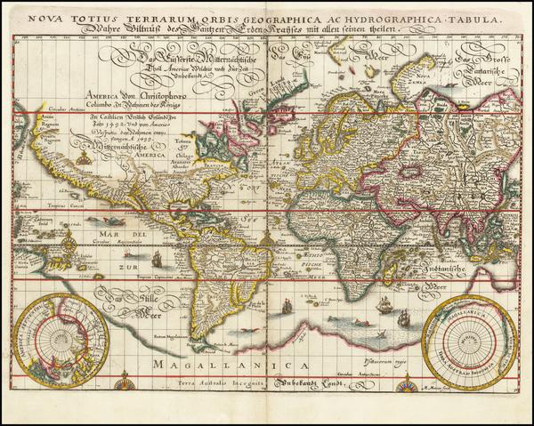 82-World Map By Matthaus Merian