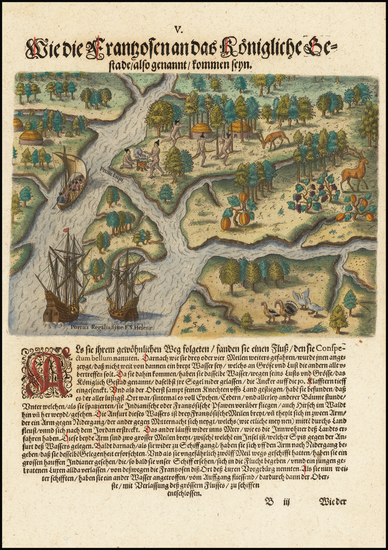 9-Southeast and South Carolina Map By Theodor De Bry