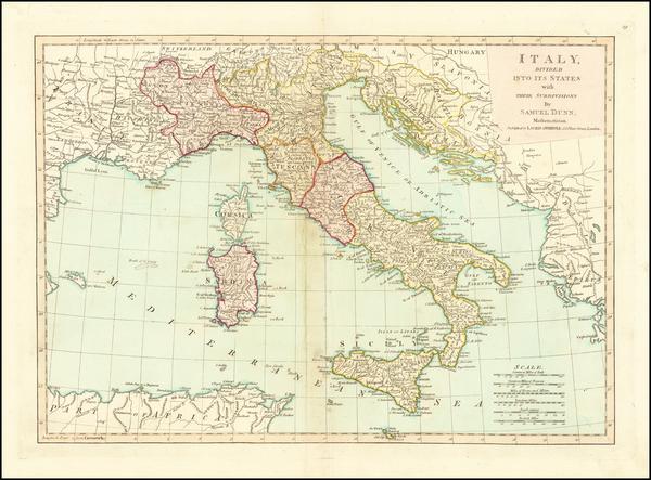 94-Italy Map By Samuel Dunn