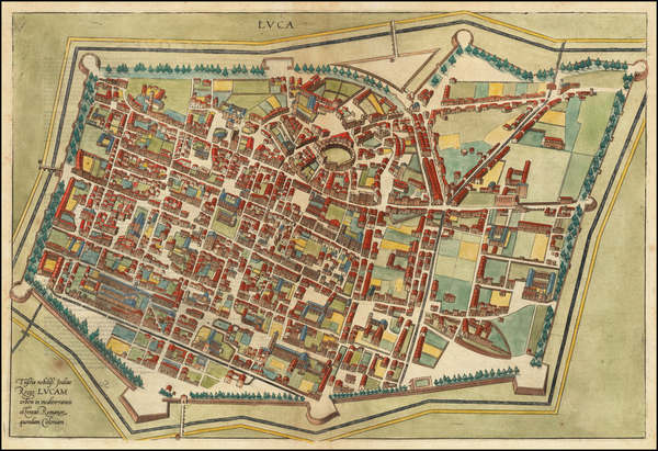 75-Other Italian Cities Map By Georg Braun  &  Frans Hogenberg