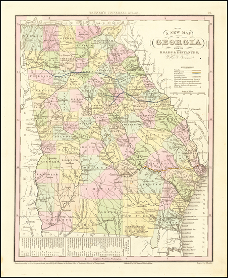 96-Georgia Map By Henry Schenk Tanner