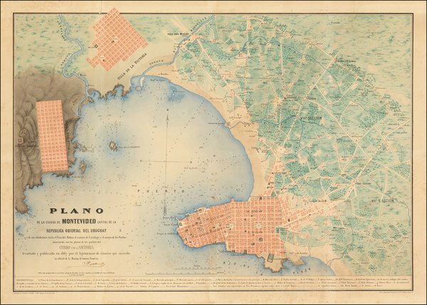 28-Uruguay Map By Prosper D'Albenas