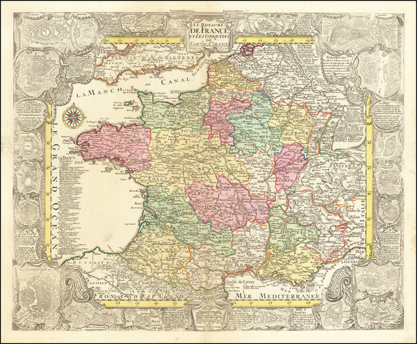 75-France Map By Tobias Conrad Lotter