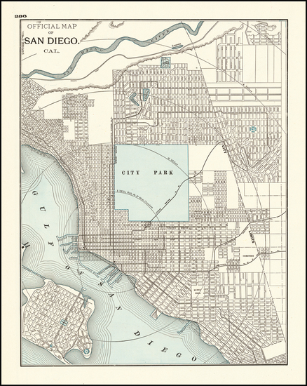 30-San Diego Map By George F. Cram