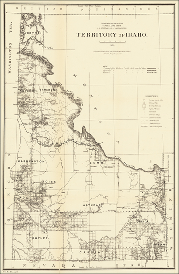 10-Idaho Map By General Land Office