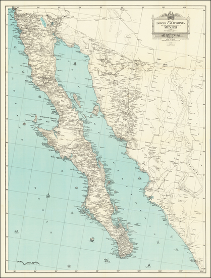 11-Mexico and Baja California Map By Edward H. Knight
