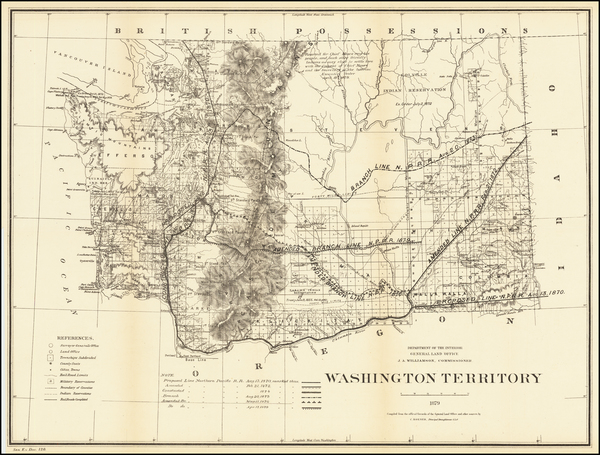 49-Washington Map By General Land Office