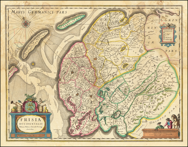 71-Netherlands Map By Willem Janszoon Blaeu