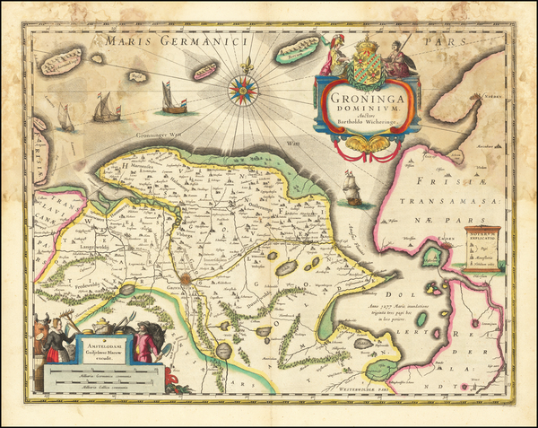 48-Netherlands Map By Willem Janszoon Blaeu