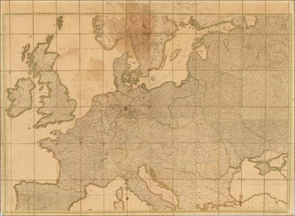 91-Europe Map By Jakob Friedrich Schmidt