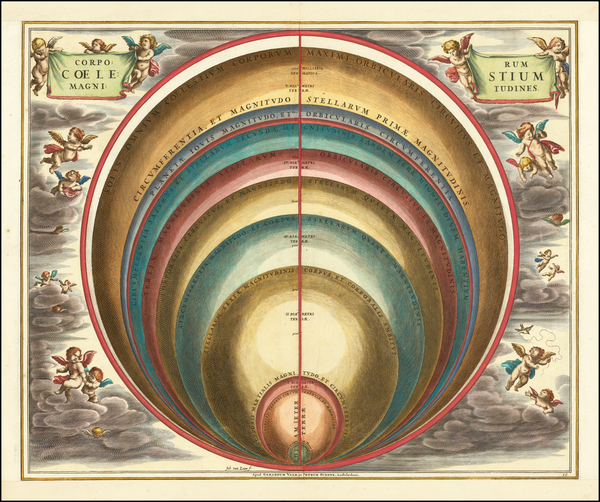 56-Celestial Maps Map By Andreas Cellarius