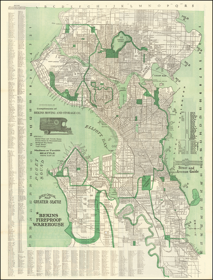 90-Washington Map By Kroll Map Company