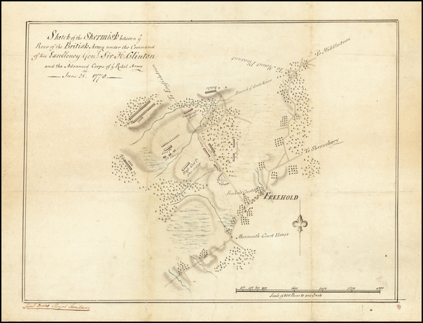 62-New Jersey and American Revolution Map By Lieutenant George Walker Dyall (Dyail) Jones