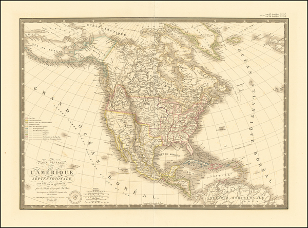 73-North America Map By Adrien-Hubert Brué