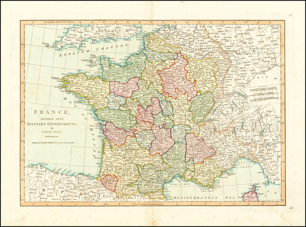 18-France Map By Samuel Dunn