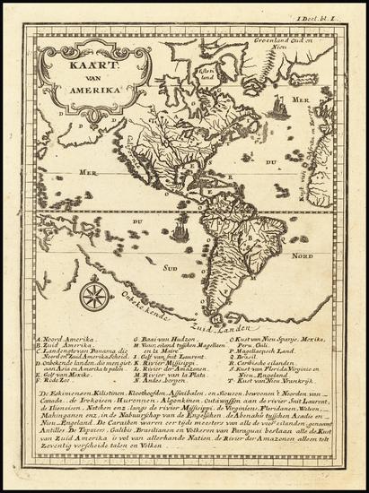 82-America Map By Joseph Francois Lafitau