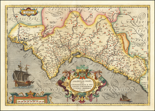 22-Spain Map By Abraham Ortelius