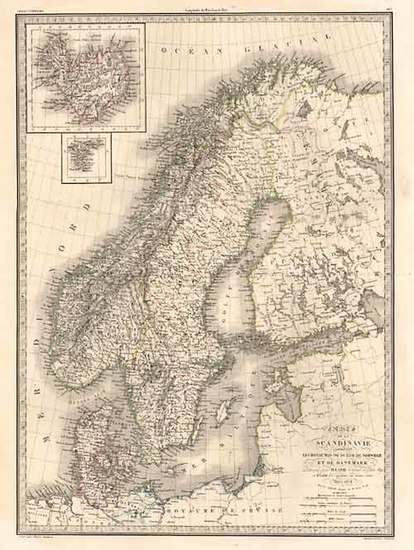 33-Europe, Baltic Countries, Scandinavia and Balearic Islands Map By Alexandre Emile Lapie