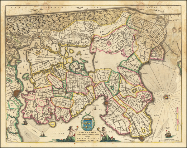 45-Netherlands Map By Johannes et Cornelis Blaeu