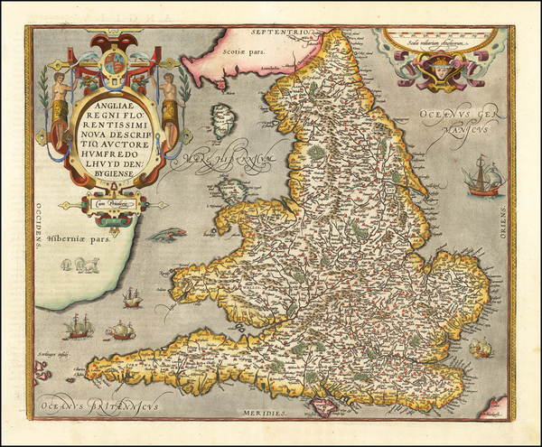 51-British Isles Map By Abraham Ortelius