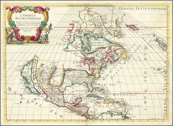 40-North America and California as an Island Map By Giacomo Giovanni Rossi