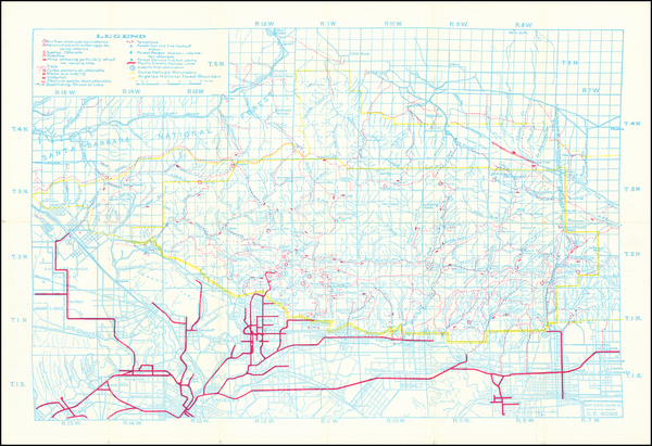 13-California and Los Angeles Map By Pacific Electric Railway
