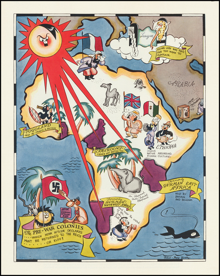 83-Europe, Africa and Pictorial Maps Map By Richard Q. Yardley  &  Peggy Yardley