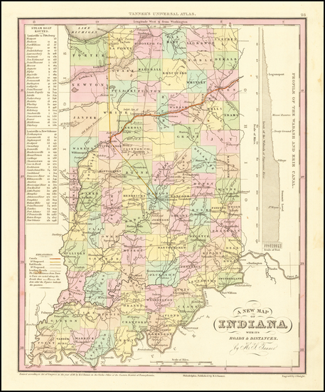 48-Indiana Map By Henry Schenk Tanner