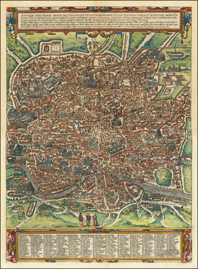 51-Other Italian Cities Map By Georg Braun  &  Frans Hogenberg