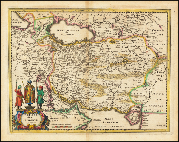 53-Middle East and Persia Map By Matthaus Merian