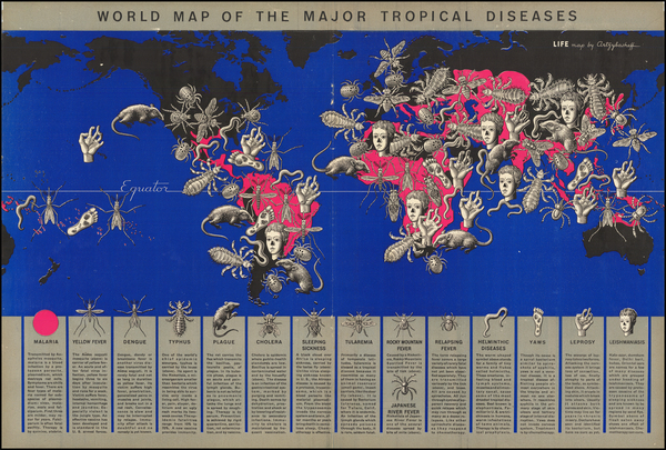 90-World and Pictorial Maps Map By Boris Artsybasheff