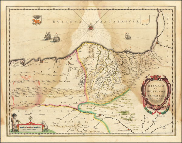 75-Spain Map By Willem Janszoon Blaeu