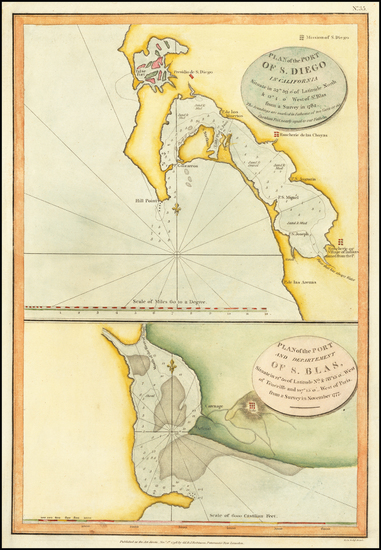 99-San Diego Map By Jean Francois Galaup de La Perouse