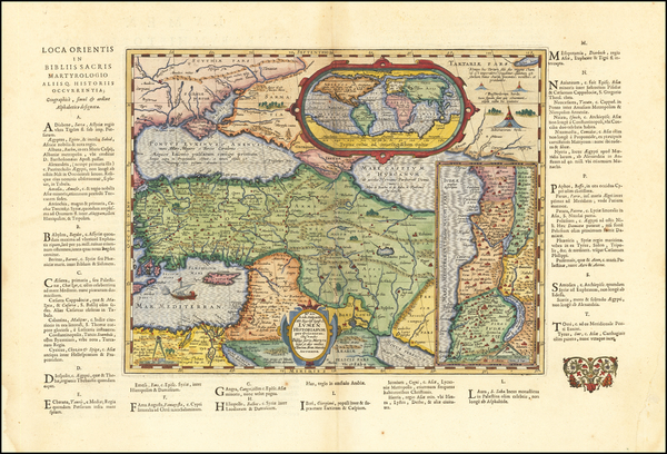 78-World and Turkey & Asia Minor Map By Abraham Ortelius