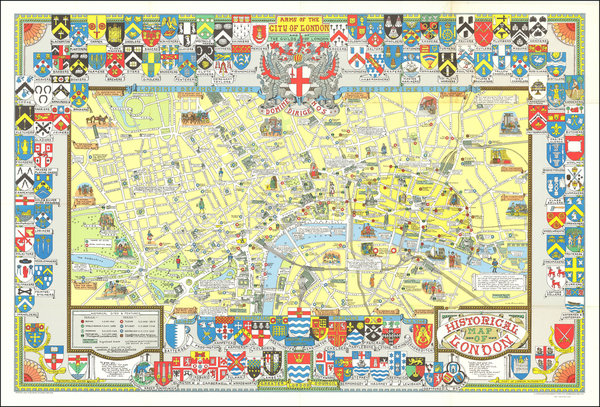 57-London and Pictorial Maps Map By John Bartholomew