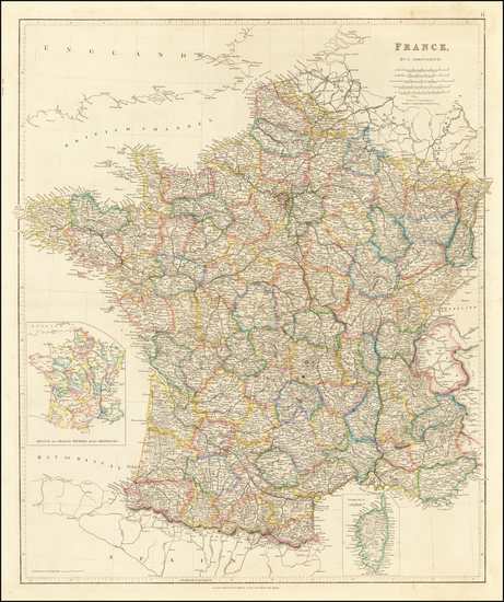 24-France Map By John Arrowsmith