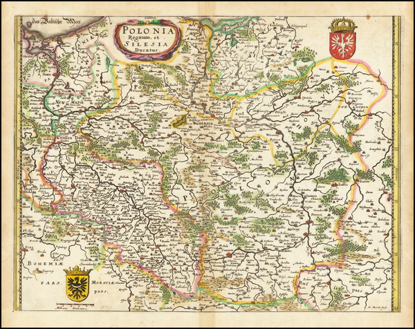 23-Poland and Baltic Countries Map By Matthaus Merian