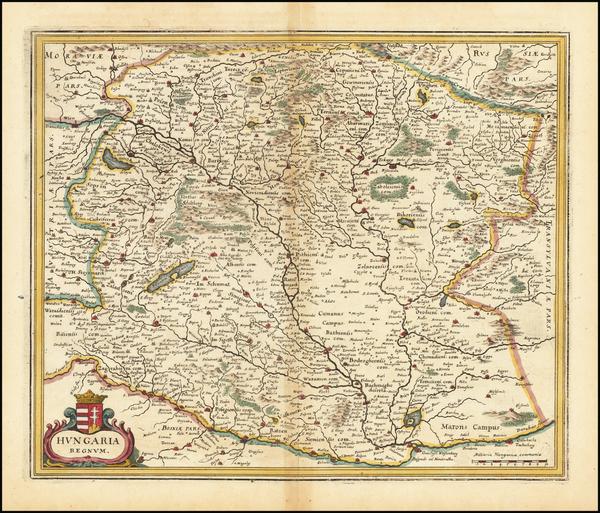 5-Hungary Map By Matthaus Merian