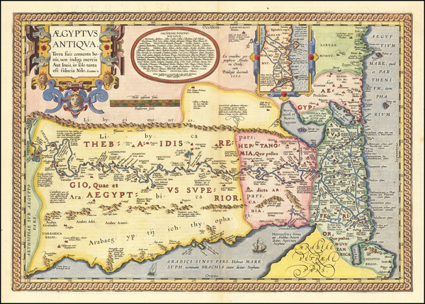 74-Egypt and North Africa Map By Abraham Ortelius